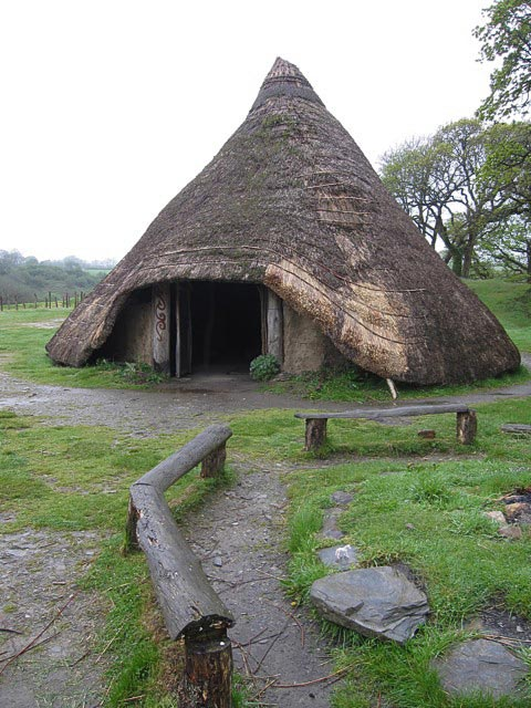 an Iron Age roundhouse