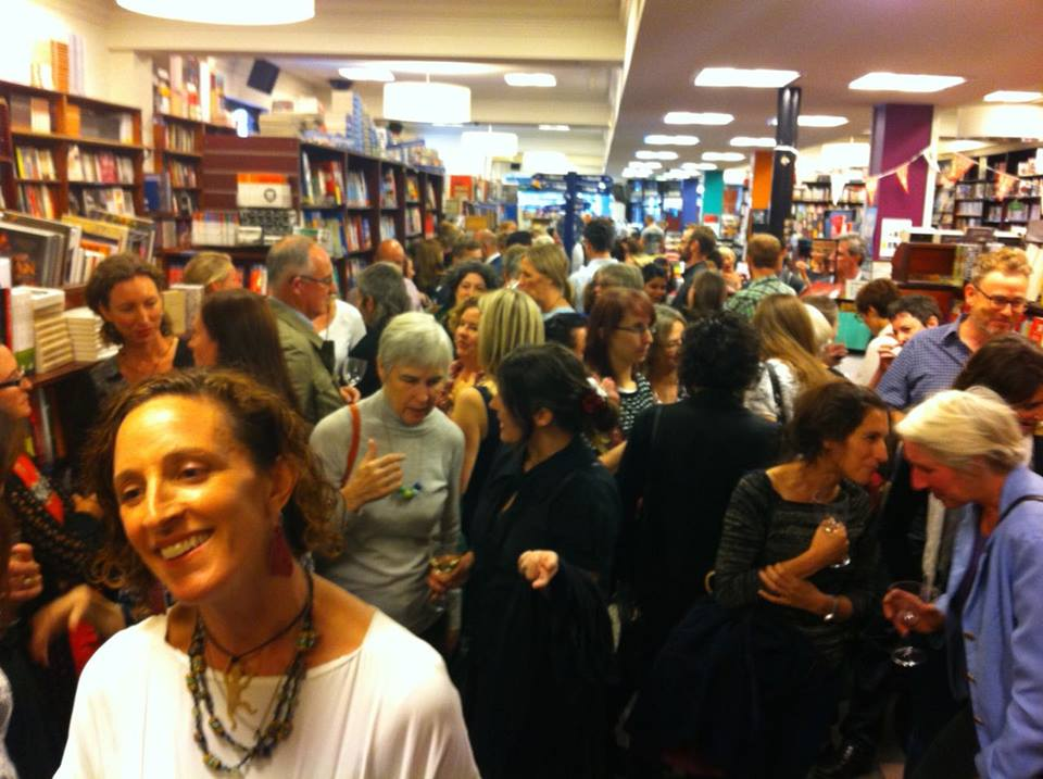 The SKIN-launching crowd at Readings